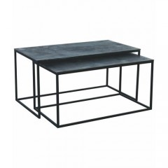 CONSOL TABLE LOW OXIDIZED SET OF 2 - CONSOLS, DESKS