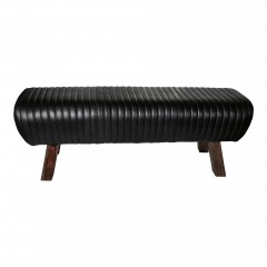 LEATHER BLACK GYM BENCH