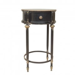 BLACK SIDE TABLE EDU WITH DRAWER
