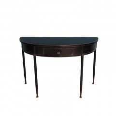BLACK METAL CURVED CONSOLE TABLE     - CAFE, SIDETABLES