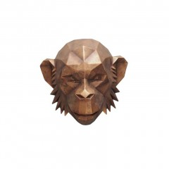 MONKEY HEAD WALL DECO WOOD