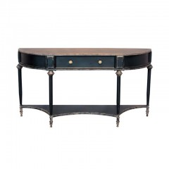 BLACK CONSOLE TABLE EDU WITH DRAWER - CONSOLS, DESKS