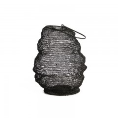 LANTERN IRON WIRE BLACK    - CANDLE HOLDERS
