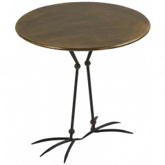 ANTIQUE GOLD CAFE TABLE BIRD LEG     - CAFE, SIDETABLES