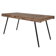 DINING TABLE WOODEN TOP 170       - DINING TABLES