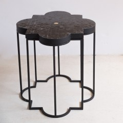 MOROCCAN MOSAIC SIDETABLE BLACK 45     - CAFE, SIDETABLES