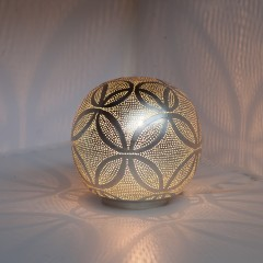 TABLE LAMP HARI BALL SMALL SILVER