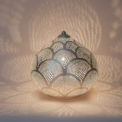 TABLE LAMP HARID FAN SMALL SILVER