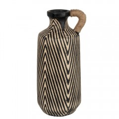 G MAMA ETHNIC VASE STRIPE CERAMIC