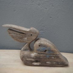 WOODEN PELICAN DECO       - DECOR ITEMS