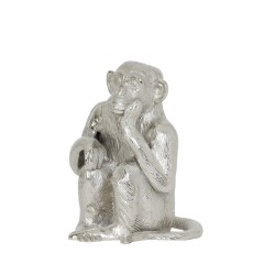 SITTING MONKEY SILVER       - DECOR ITEMS