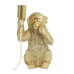 TABLE LAMP MONKEY GOLD