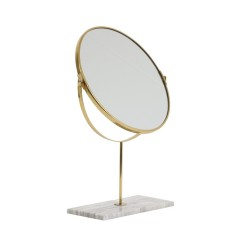 TABLE MIRROR ON GREY MARBLE BASE 50