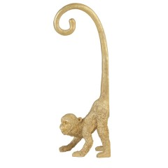 WALL DECO MONKEY GOLD 45       - DECOR ITEMS