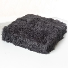 CUSHION TIBETIAN BLACK 80     - CUSHIONS