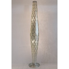 FLOOR LAMP MRS BRASS SILVER PLATED 180