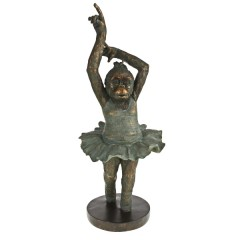 DECO BALLET MONKEY ONE HAND UP POLY       - DECOR ITEMS