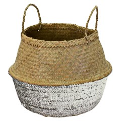 DECO BASKET SILVER NATURAL