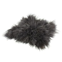 LAMB FUR CHAIR PAD GRAY     - CUSHIONS