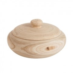 WOOD POT NATURAL POT       - DECOR ITEMS