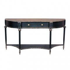 BLACK METAL CONSOL TABLE WITH DRAWER - CONSOLS, DESKS