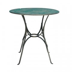 METAL ROUND TABLE     - CAFE, SIDETABLES