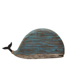 WOODEN BLUE WHALE LARGE       - DECOR ITEMS