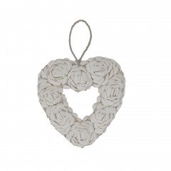 SHELL HEART WHITE       - DECOR ITEMS