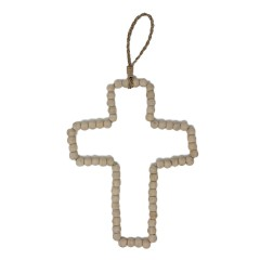 WOOD PEARL CROSS NATURAL