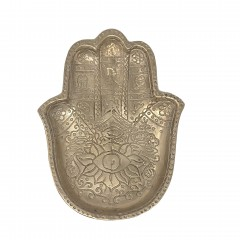 BRONZ HENNA PLATE       - DECOR ITEMS