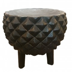 MANGO WOOD SIDETABLE CARVED     - CAFE, SIDETABLES