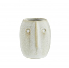 FLOWER POT FACE PRINT WHITE