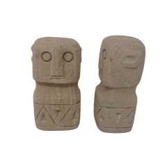 STONE FIGURE PRIMITIVE       - DECOR ITEMS