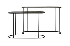 CONSOLE TABLE ANTIQUE BRONZE BLACK - CONSOLS, DESKS