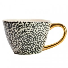 GOLD BLACK DOT CUP