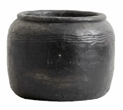 CEMENT POT RACI BLACK