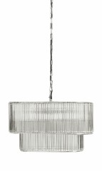 AMOUR LAMP HANGING GLASS SILVER