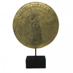 COIN ON STAND DECO BRONZE GOLD COLOR
