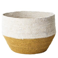 BASKET YELLOW WHITE