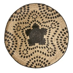 SEAGRASS TRAY NATURAL BLACK