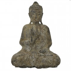 BUDDHA ANTIK LOOK WOOD LARGE