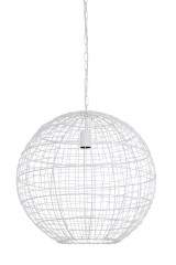 HANING LAMP BALL WOVEN WIRE WHITE