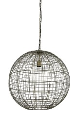 HANING LAMP BALL WOVEN WIRE BRONZE
