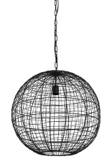 HANING LAMP BALL WOVEN WIRE BLACK