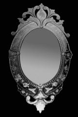 Venetian mirror standing oval