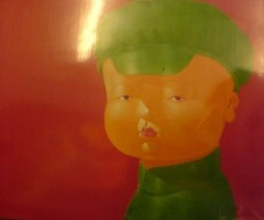 GREEN HAT BOY - PAINTINGS