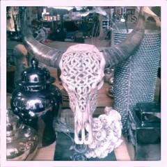 Carved Buffalo Skull