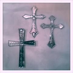 Venetian mirror cross
