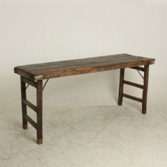 MARKET FOLDING CONSOLE TABLE BROWN - CONSOLS, DESKS