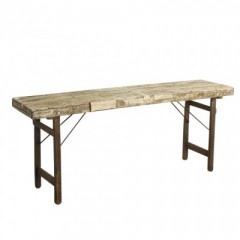 MARKET FOLDING CONSOLE TABLE WHITE - CONSOLS, DESKS